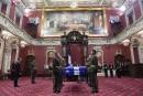 Chapelle ardente pour Jacques Parizeau à l'Assemblée nationale