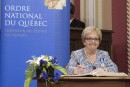 Colette Roy Laroche devient Chevalière de l'Ordre du Québec