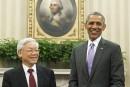Obama et le no. 1 du PC vietnamien dans le Bureau ovale