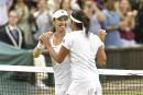 Wimbledon: un premier titre en double depuis 1998 pour Martina Hingis
