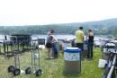 Fête du lac: la chaleur pesante ne ralentit pas les préparatifs