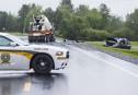 Une bétonnière emboutit une mini-fourgonnette: deux enfants blessés