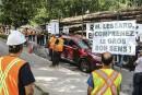 Les travailleurs de Lauzon manifestent leur mécontentement