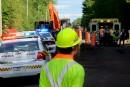 Le travailleur du chantier routier est décédé