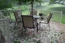 Une tempête de grêle cause des dommagesà Coaticook