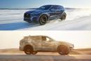 Jaguar F-Pace: surgelé, puis rôti