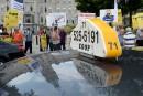 Les chauffeurs de taxi manifestent leur mécontentement envers Uber