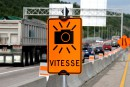 Dorénavant des panneaux annonçant de possibles radars photo