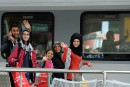 L'Allemagne accueille des migrants à bras ouverts
