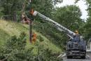 Inondations: Bibeau promet de l'aide à Coaticook