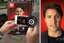Des pancartes parlantes pour Justin Trudeau