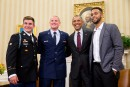 Les héros du Thalys reçus par Obama