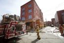 Incendie au centre-ville de Sherbrooke