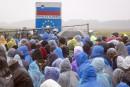 Réfugiés: blocages dans les Balkans, manifestation en Allemagne