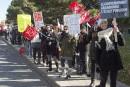 125000 employés de l'État en grève