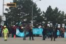 Des piquets de grève sont apparus mercredi matin (vidéo)