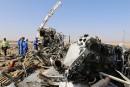 Écrasement en Égypte:un satellite a détecté un flash de chaleur