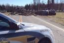 Impact entre un camion et une voiture sur la 253