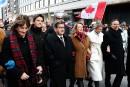 Une marche silencieuse à Montréal pour Paris