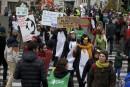 Manifestations mondiales à la veille de la conférence de Paris