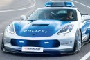 Une Corvette de police