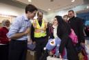 Trudeau et des élus accueillentles premiers réfugiés à Toronto