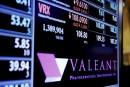 Le titre de Valeant glisse de 11% sur le TSX
