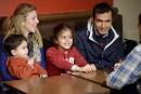 Une famille de réfugiés syriens comblée