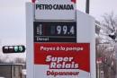 L'essence sous la barre du 1 $