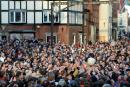 Bataille royale à l'anglaise au «Royal Shrovetide football»