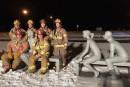 Une photo des pompiers provoque des remous à Magog