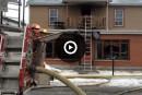 Incendie sur la rue Marquette: trois individus arrêtés
