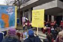 Bruyante manif du 8 mars devant le palais de justice
