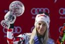 Slalom géant: globe de cristal pour Eva-Maria Brem, Gagnon5e