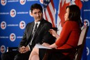 Justin Trudeau, à Washington, vante le budget fédéral