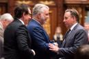 Sondage CROP-<em>La Presse</em>: Péladeau et Legault surpris de voir les libéraux en tête