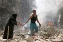 Une clinique bombardée à Alep après le carnage dans un hôpital