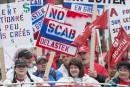 Grande marche pour la fête des Travailleurs à Montréal