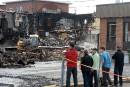 Incendie suspect au centre-ville deSaint-Raymond