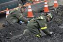 Incendie à Saint-Raymond: à genoux dans les cendres àla recherche d'indices