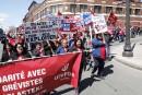 Manifestation d'appui aux grévistes de Delastek