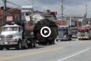 Les camionneurs manifestent dans les rues de la ville