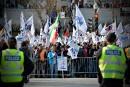 Secteur municipal: grosse manifestation syndicale à Québec