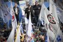 Manif à Québec: moins nombreux qu'annoncé, les syndiqués se sont néanmoins fait entendre