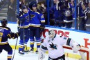 Les Blues gagnent le premier match face aux Sharks