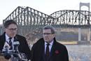 Pont de Québec: Labeaume et Lehouillier «furieux» contre le fédéral