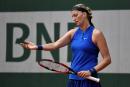 Roland-Garros: Kvitova tombe, Muguruza et Halep avancent