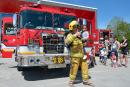 Les gens ont pu visiter la nouvelle caserne de pompiers de Saint-Émile, samedi, et les enfants ont semblé avoir beaucoup de plaisir...