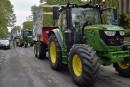 Des producteurs de lait estriens manifestent à Ottawa