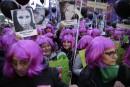 Des Argentins manifestent pour dénoncer la violence faite aux femmes